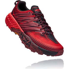 Hoka One One Speedgoat 4 Sko Herrer, cordovan/high risk red
